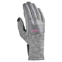 HEAD Jr Junior Girls Lt Gray Pink Hybrid Sensatec Touchscreen Winter Gloves NWT image 2