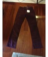 Calvin Klein Power Stretch Straight Leg Womens Burgundy Corduroy Jeans Sz 6 - $20.70
