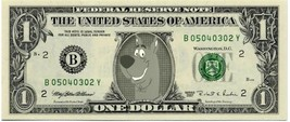 SCOOBY DOO on REAL Dollar Bill Collectible Celebrity Cash Memorabilia Mo... - $5.55