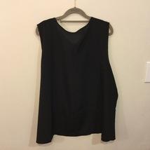 Women's Black Sleeveless 100% polyester Tank Top Blouse Crew Neck, size 22W/24W image 3