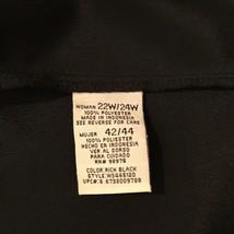 Women's Black Sleeveless 100% polyester Tank Top Blouse Crew Neck, size 22W/24W image 4