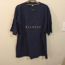 Bellagio Navy Blue 100% Cotton Short Sleeve T-Shirt, size XL