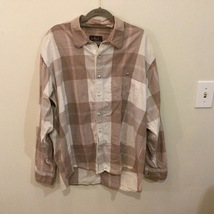 Trekka Plaid Multicolor Button Up 100% Cotton Casual Shirt, size XL
