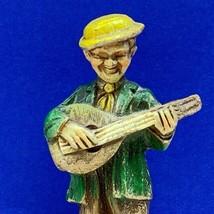 West Germany hand carved figurine banjo guitar mandolin man statue sculp... - $24.70