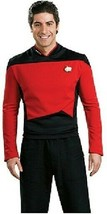 Star Trek The Next Generation Red Command Uniform Deluxe Shirt Size SMAL... - $52.20
