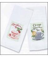 White Showcase 14ct Huck Towel 15x26 FREE CHART Charles Craft - $5.70