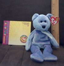 TY Beanie Baby - CLUBBY 2 the Platinum Bear (8.5 inch) + OBB Pocket Checklist - $6.99