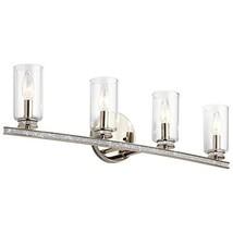 Kichler Angelica 4-Light 7.55-in Polished Nickel Cylinder Vanity Light - $162.24