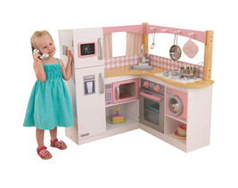 Kids Playset Girls Wooden Kitchen Cooking Set S... - $207.89