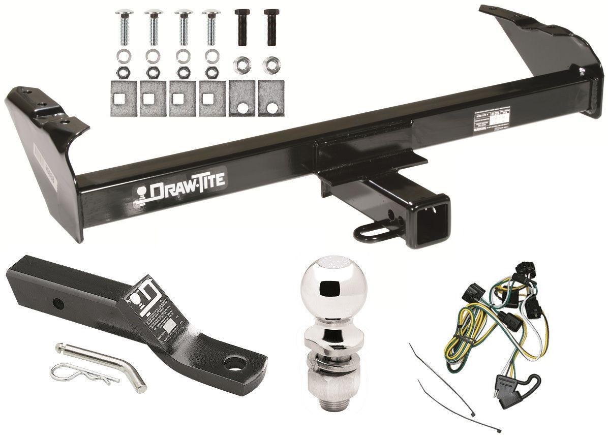 1997 dodge dakota trailer wiring 1997-2003 dodge dakota complete trailer hitch package w ...