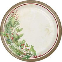 "Winter Wreath 7"" Dia. Paper Luncheon Plate, Case of 96 - £28.39 GBP"