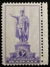 1937 3c Hawaii Territory, Statue of Kamehameha Scott 799 Mint F/VF NH - $1.28