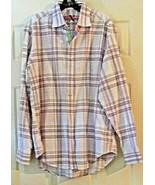 Robert Graham Button Down Shirt Red Stripes + Sz. XL - $29.69