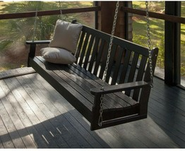POLYWOOD Outdoor Porch Swing 60 in. Water resistant Vineyard Plastic Fra... - $507.00