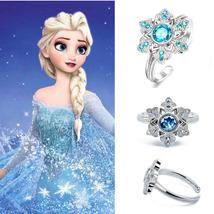 Disney Film Queen Elsa Anna's Anna Snowflakes Ring 925 Sterling Silver R... - $13.50