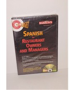 On Target SPANISH For Restaurant Owners and Managers Audio CD & Phrasebook - $9.96