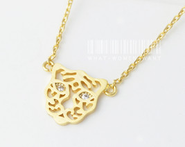 Delicate tiger necklace, tiger necklace, origam... - $9.80