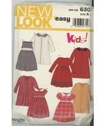 New Look 6309 Girls Dress  with Jacket- four styles Size 3-8 - $3.00