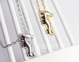 Little Seahorse necklace, seahorse charm, seaho... - $8.90