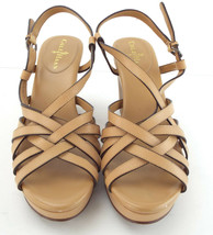 COLE HAAN Size 7 Beige Platform Strappy Sandals Shoes - $64.00