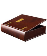 Large Wood Memory Box Photo Organizer in Mahoga... - $105.00