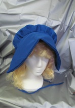 WAGON TRAIN OR PRAIRIE LADIES BONNET ROYAL BLUE ONE SIZE FITS MOST - $12.00