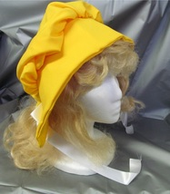 WAGON TRAIN OR PRAIRIE LADIES BONNET YELLOW ONE SIZE FITS MOST - $12.00