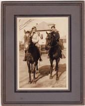 Sally Larson & Walter Diamondstone on Horseback Photo Amesbury MA - $17.50