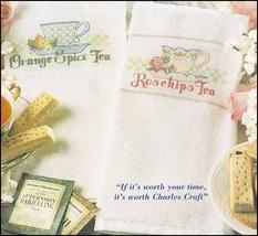 White KitchenMate 14ct Huck Towel 14x24 FREE CHART Charles Craft - $5.75
