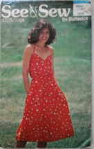 Butterick 5819  Misses' See & Sew Halter Style Dress  Size Medium (12-14) - $7.99