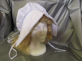 WAGON TRAIN OR PRAIRIE LADIES BONNET WHITE ONE SIZE FITS MOST - $12.00