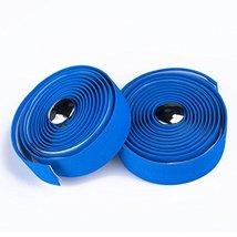 Weanas®-Vex Gel SuperSuede Bike Blue Color Handle Bar Tape Wraps Bar Plugs - $17.95