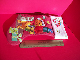 "Disney Home Decor 18.5"" Winnie Pooh Red Christmas Stocking Holiday Decoration image 3"