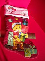 "Disney Home Decor 18.5"" Winnie Pooh Red Christmas Stocking Holiday Decoration image 5"