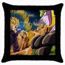 Gohan Fights Cell Throw Pillow Case - Anime Manga - ₨1,186.83 INR
