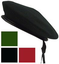 Wool Monty Beret with Drawstring Military Army Uniform Elite Tactical Bl... - $14.99