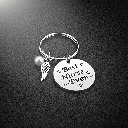 Nurse Keychain Gifts for Women - Nursing Keychain (Best Nurse Ever- Keychain)