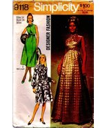 Vintage Simplicity Sewing Pattern 9118 - Misses Dress in 3 Lengths Size 14 - $3.79