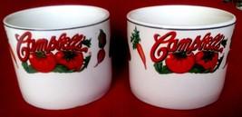 SET OF 2 CAMPBELLS  SOUP VEGETABLE CUP MUG BOWL 1997 - $9.02