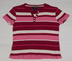 THE CHILDRENS PLACE TCP GIRLS SIZE SMALL 5 6  TOP PINK STRIPED STRIPES S... - $10.09