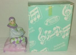 NIB 1992 San Francisco Music Box Company Porcelain Clown on a Pillow Figurine - $11.95
