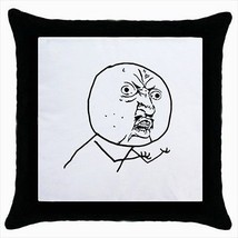 Angry Meme Throw Pillow Case - $16.44