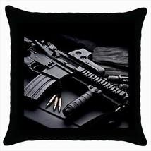 M16 Machine Gun Throw Pillow Case - $16.44