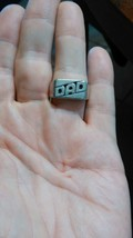 Sterling Silver DAD Ring Band Signed B Olivia - $9.45