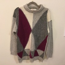Premier Graphic Mock Neck Multicolor Sweater, size M