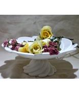 Vintage Retro Creamware Swirl Cake/Cookie/Sandwich/Cupcake Pedestal  - $12.00