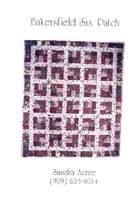 Bakersfield Six Patch Twin/Throw Sandra Acree Quilt Pattern NEW 30 Days ... - $3.57