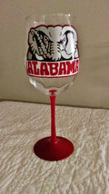 Alabama Crimson Tide hand painted wine glass - $22.98 CAD