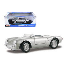 Porsche 550A Spyder Silver 1/18 Diecast Model Car by Maisto 31843s - $57.71