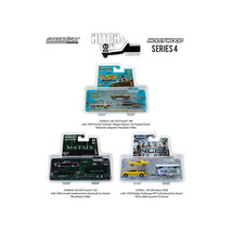 Hollywood Hitch & Tow Series 4 Set of 3 1/64 Diecast Model Cars by Green... - $63.41